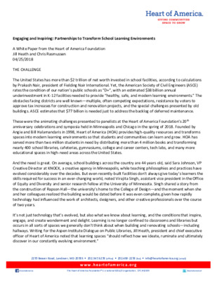 Leveraging Partnerships to Transform School Learning Environments