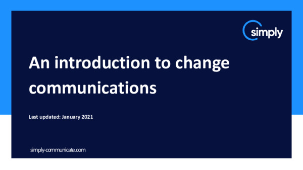 Introduction to change communications