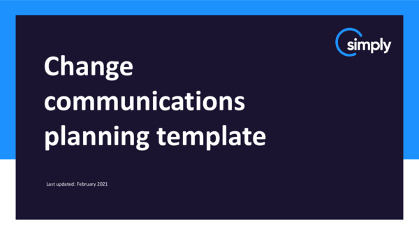 Change communications planning template