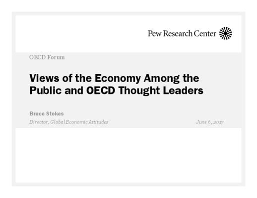 Views of the Economy Among the Public and OECD Thought Leaders