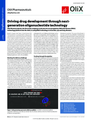 Driving drug development through next-generation oligonucleotide technology