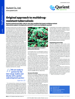 Original approach to multidrug-resistant tuberculosis