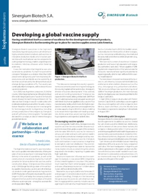 Developing a global vaccine supply