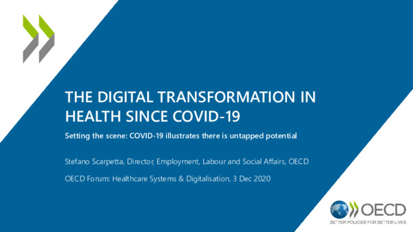 "The Digital Transformation in Health Since COVID-19: Presentation from the OECD Forum Virtual Event ""Healthcare in the Digital Age"""