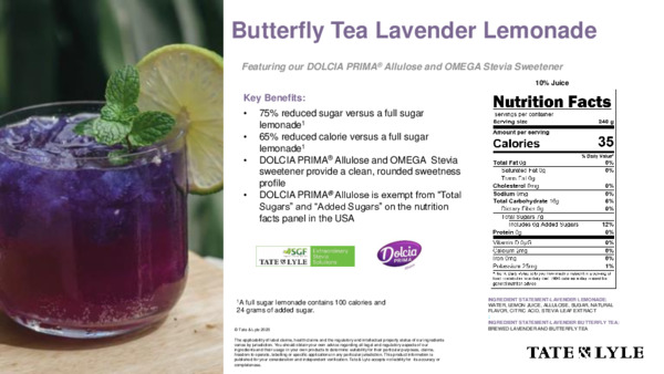 Taste - Butterfly Tea Lavender Lemonade