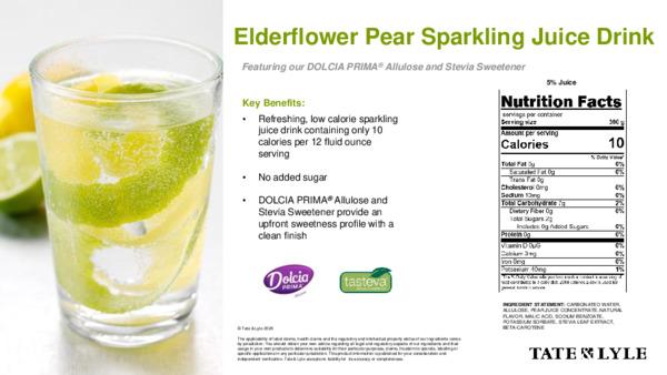 Taste - Elderflower Pear Sparkling Juice Drink