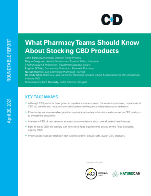 Whitepaper: What Pharmacy Teams Should Know About Stocking CBD Products