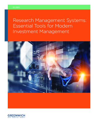 Greenwich Associates Report - Research Management Systems: Essential Tools for Modern Investment Management