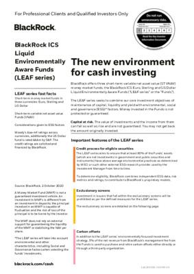 Black Rock - ICS LEAF product flyer