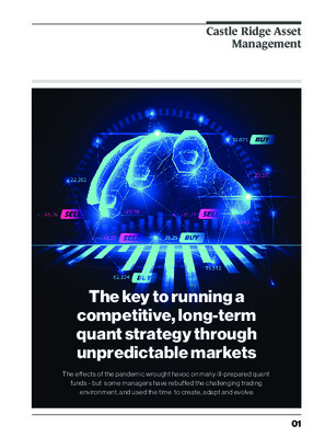 The key to running a competitive, long-term quant strategy through unpredictable markets