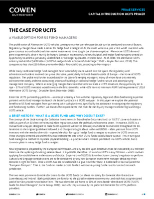 The case for UCITS