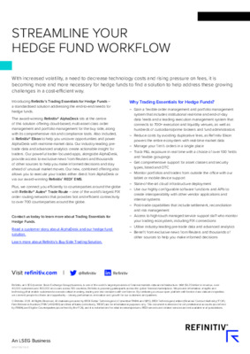 Streamline Your Hedge Fund Workflow