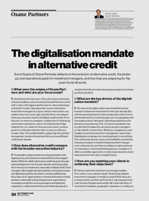 Oxane Partners whitepaper: The digitalisation mandate in alternative credit