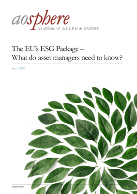 Aosphere whitepaper: The EU's ESG package - what do asset managers need to know?