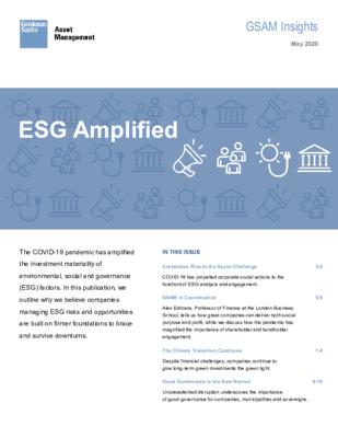 Goldman Sachs Asset Management: ESG Amplified