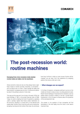 The post-recession world: routine machines