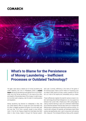 What's to blame for the persistence of money laundering - inefficient processes or outdated technology?