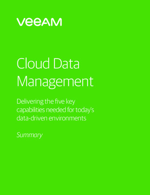 Veeam Executive Solution Brief Summary