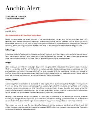 Anchin Alert Hedge Fund 4/29/2021