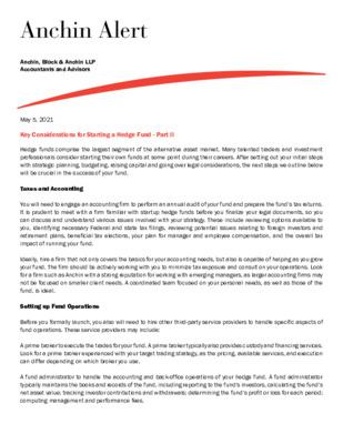 Anchin Alert Hedge Fund Part II 5/2/21