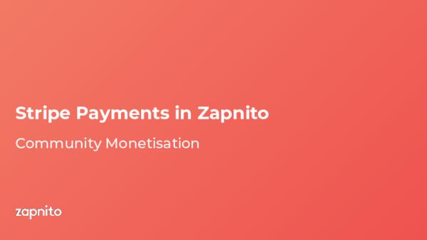 Stripe Payments in Zapnito