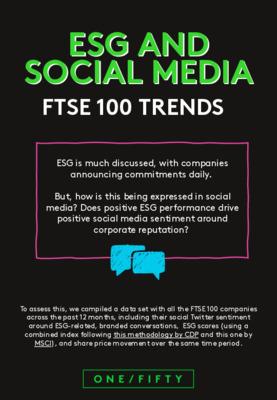 ESG and social media - FTSE 100 trends