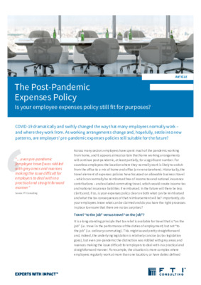 The Post-Pandemic Expenses Policy