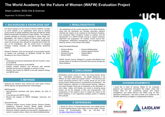 The World Academy for the Future of Women (WAFW) Evaluation Project | Academic Poster