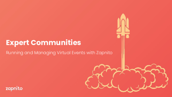 Running and Managing Virtual Events with Zapnito