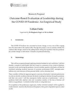 Research Proposal: Evaluation of Leaders