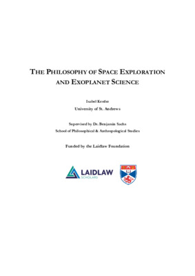 Essay: The Philosophy of Space Exploration and Exoplanet Science