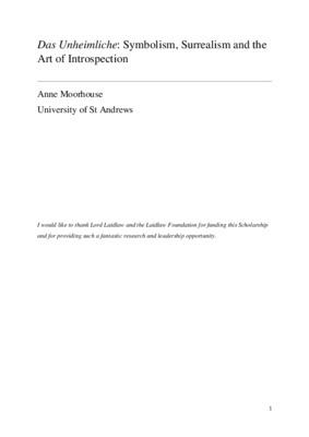 Laidlaw Scholarship Essay: 'Das Unheimliche': Symbolism, Surrealism and the Art of Introspection