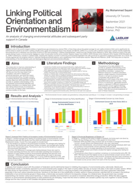 Linking Political Orientation and Environmentalism: Poster