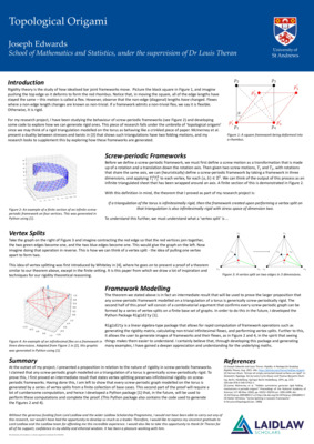 Topological Origami: Poster