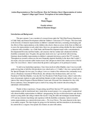 Laidlaw Research Description- Mindy Duggan