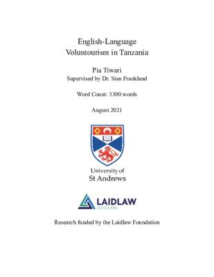 English-Language Voluntourism in Tanzania