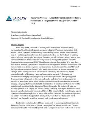 Research Proposal 2021
