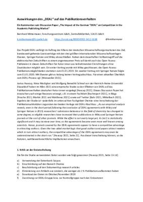Auswirkungen des DEAL auf das Publikationsverhalten | Bernhard Mittermaier | Jülich Forschungszentrum, Communication, May 17, 2021