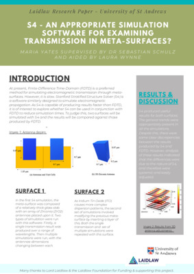 Poster: S4 - An Appropriate Simulation Software for Examining Transmission in Meta-Surfaces?