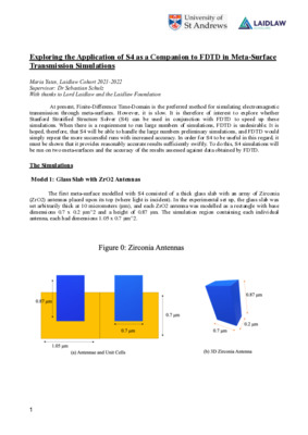 Research Paper: Exploring the Application of S4 in Meta-Surface Simulation