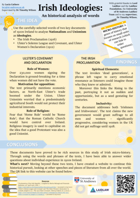 Irish Ideologies - Research Poster by Lucia Cathers
