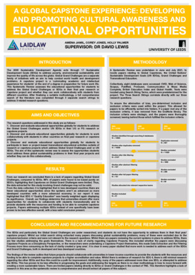 Poster: A Global Capstone Experience: Developing and Promoting Cultural Awareness and Educational Opportunities