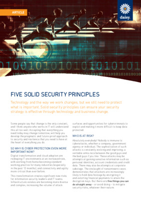 5 Security Principles Article