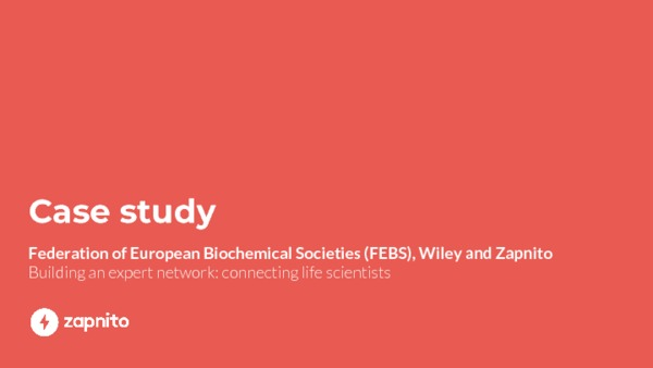 FEBS & Zapnito - Building an expert network: connecting life scientists