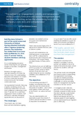 Saïd Business School - Case Study