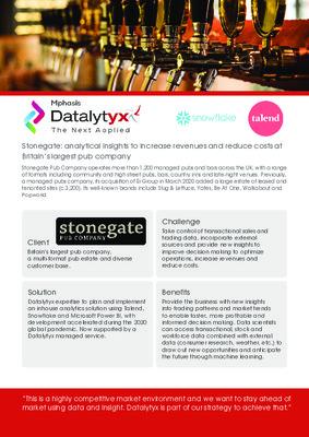 Stonegate - Case Study