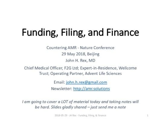 John H Rex - Funding, Filing, & Finance