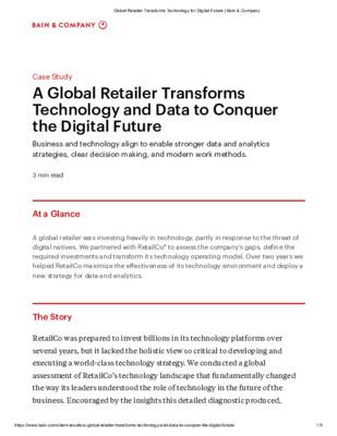 Global Retailer Transforms Technology for Digital Future