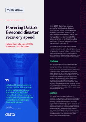 Datto Case Study
