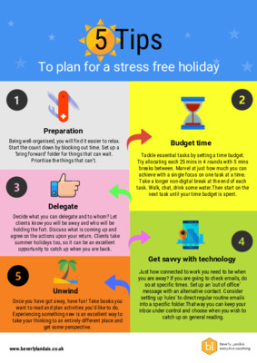 5 Tips for a stress free holiday